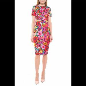 Alexia Admor Floral Scuba Midi Sheath Dress - NWT